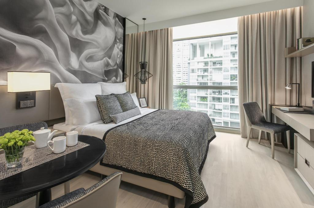 Studio Executive Suite - Bed Ascott Orchard Singapore (SG Clean Certified)