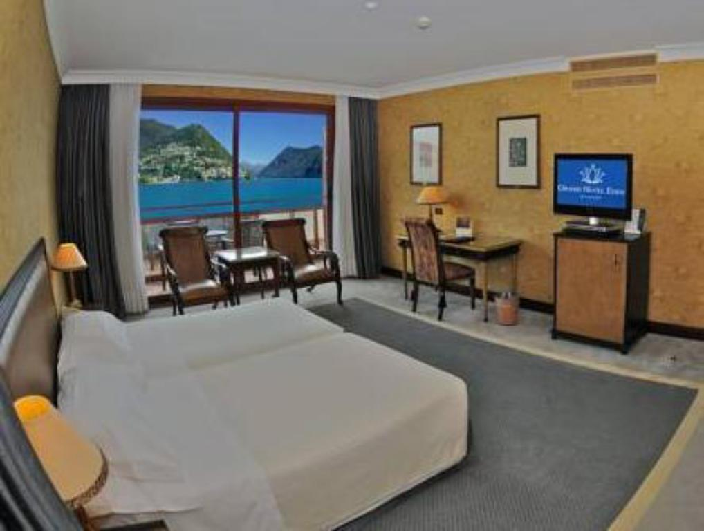 Deluxe room with front lake view single occupancy - Guestroom Grand Hotel Eden
