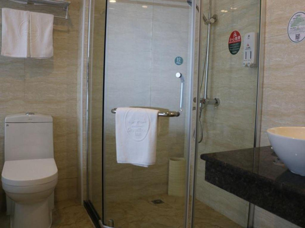 Bathroom GreenTree Inn Nanjing Jiangning Tianyin Avenue Subway Station Express Hotel