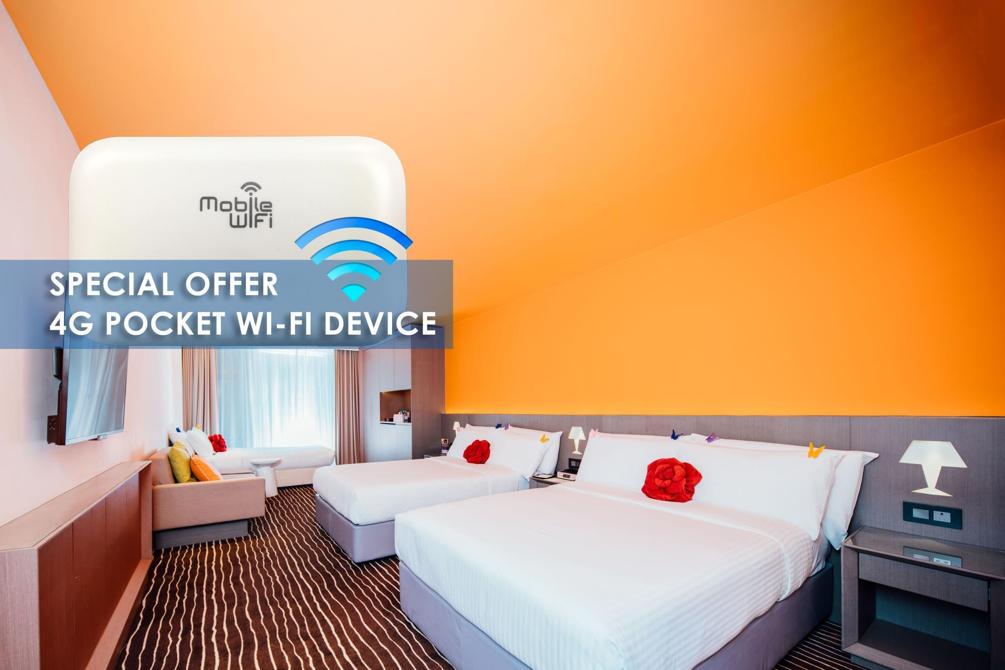 Družinska soba s 4g Wi-Fi žepno napravo (Family Room with 4G Pocket Wi-Fi Device)