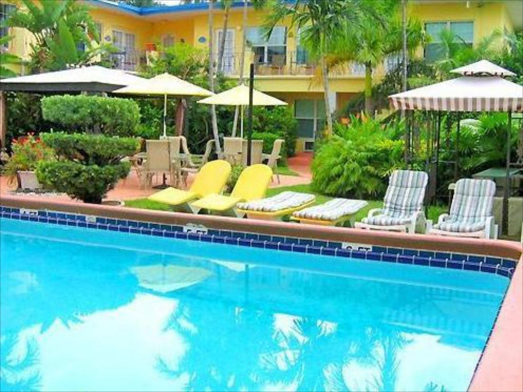 Swimming pool Grand Palm Plaza (Gay Male Clothing Optional Resort) A North Beach Village Resort Hotel