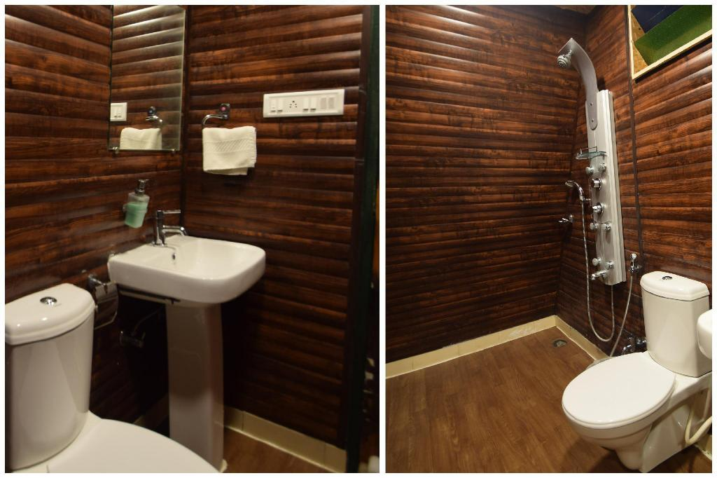 Premium Wooden Cottage - Kamar Mandi The Space Jungle Retreat