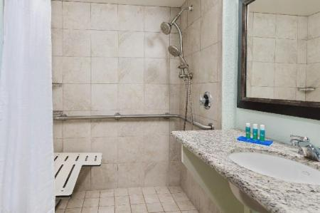 King Mobility Accessible Roll In Shower Non-Smoking - Bathroom Holiday Inn Express Hotel & Suites Ft. Lauderdale-Plantation