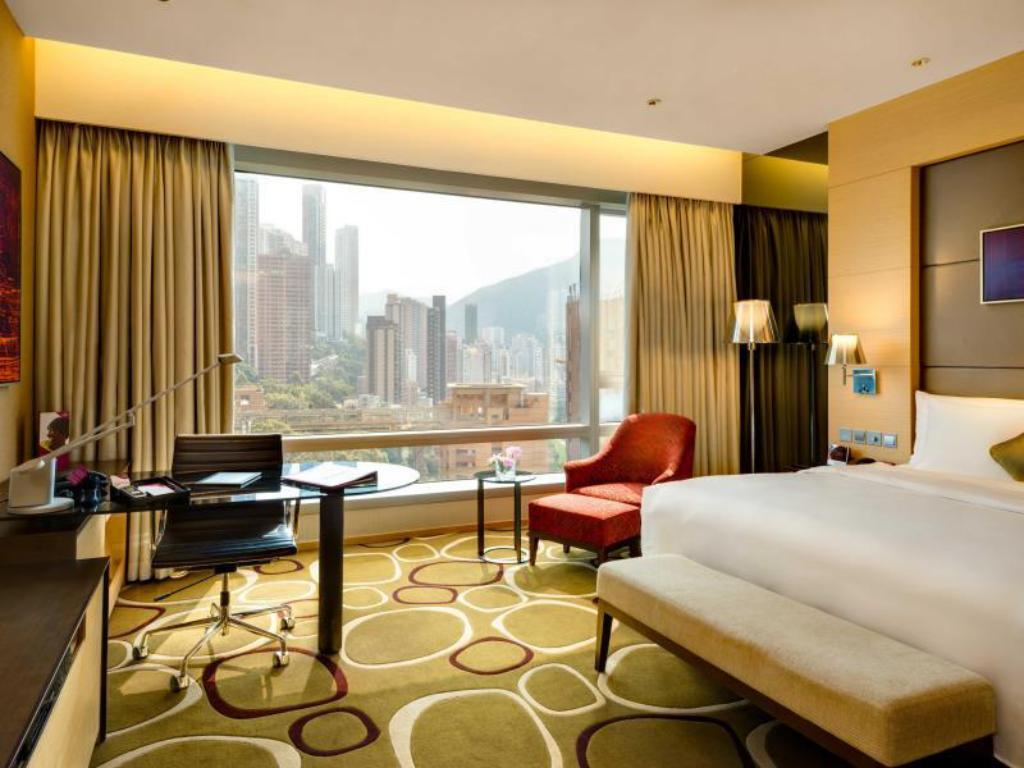 King Bed Deluxe Room Non-Smoking - 客房 香港銅鑼灣皇冠假日酒店 (Crowne Plaza Hong Kong Causeway Bay)
