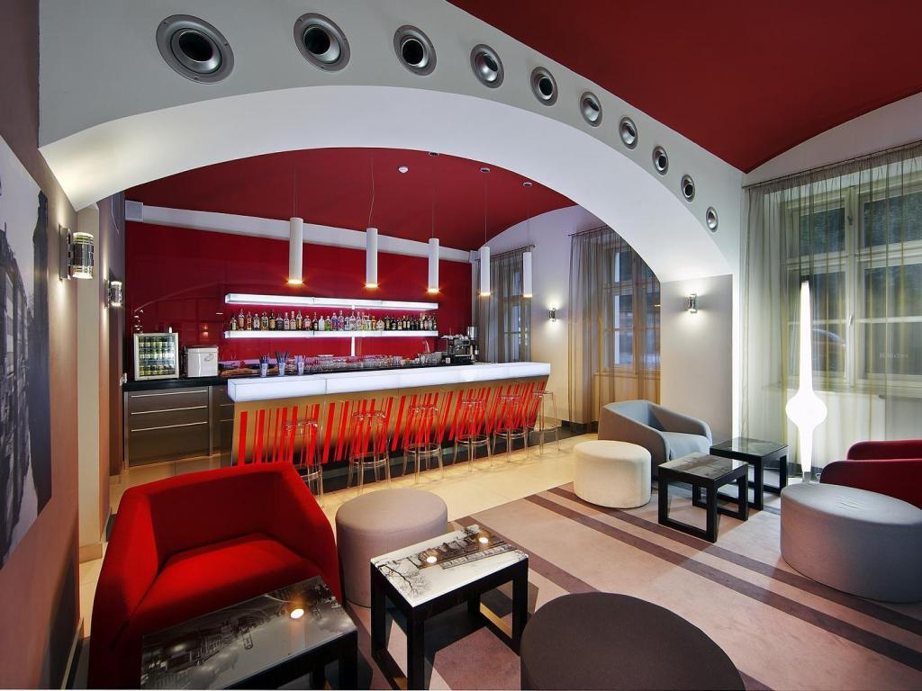 Lobby Red & Blue Design Hotel Prague