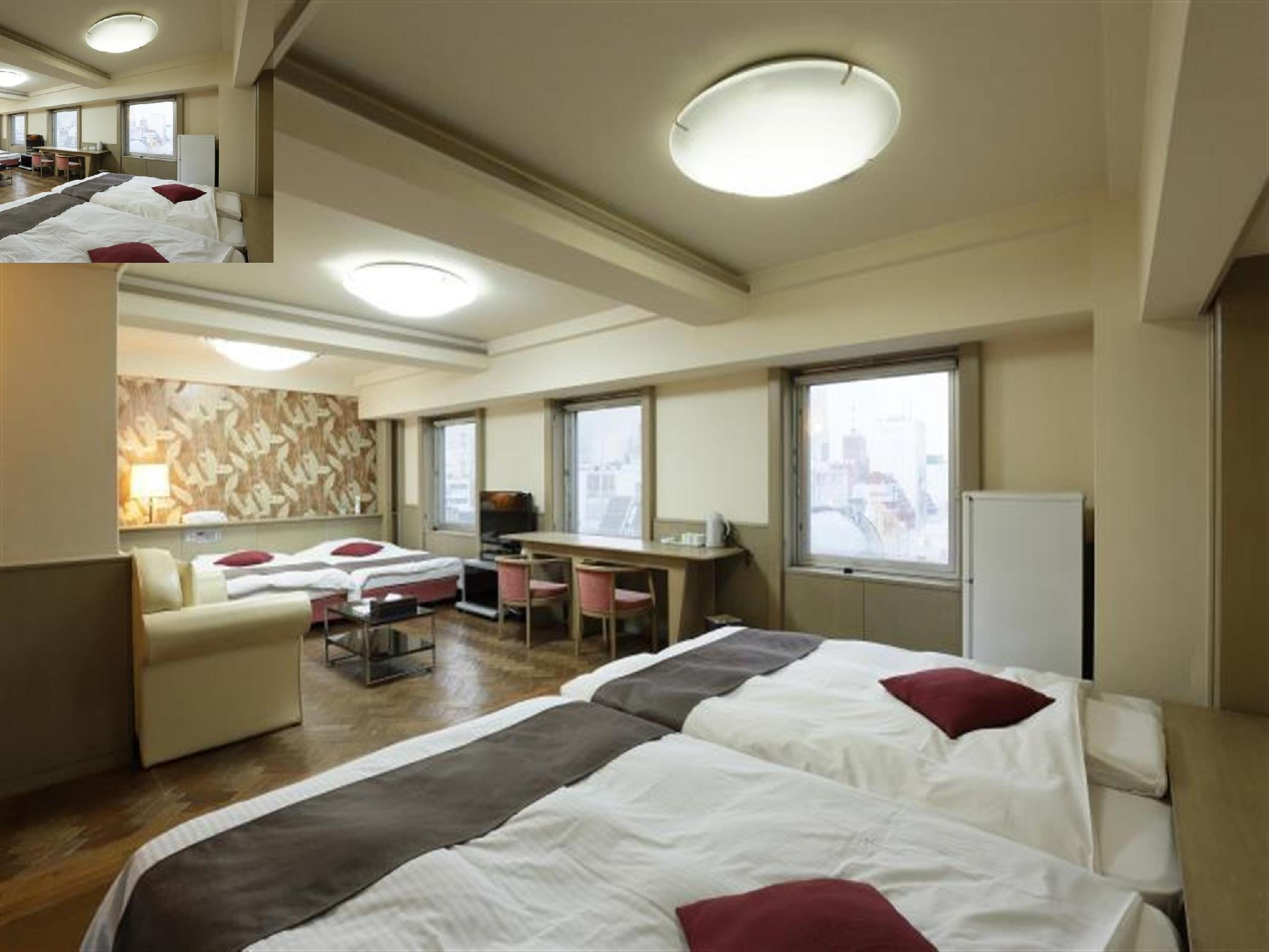四床房(2張雙人床+兩床+加床) (4 Bed Room (2 Double Bed & Twin Bed & 1 Extra Bed))