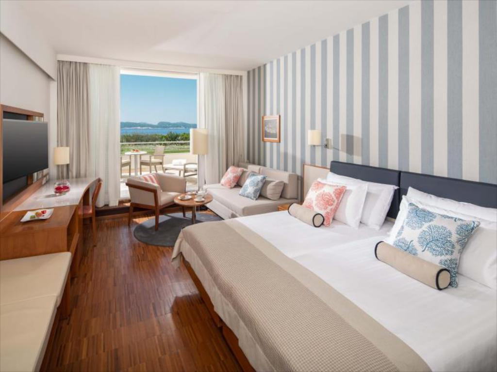 Classic Double Room - Balcony with Sea View - Guestroom Valamar Collection Dubrovnik President Hotel