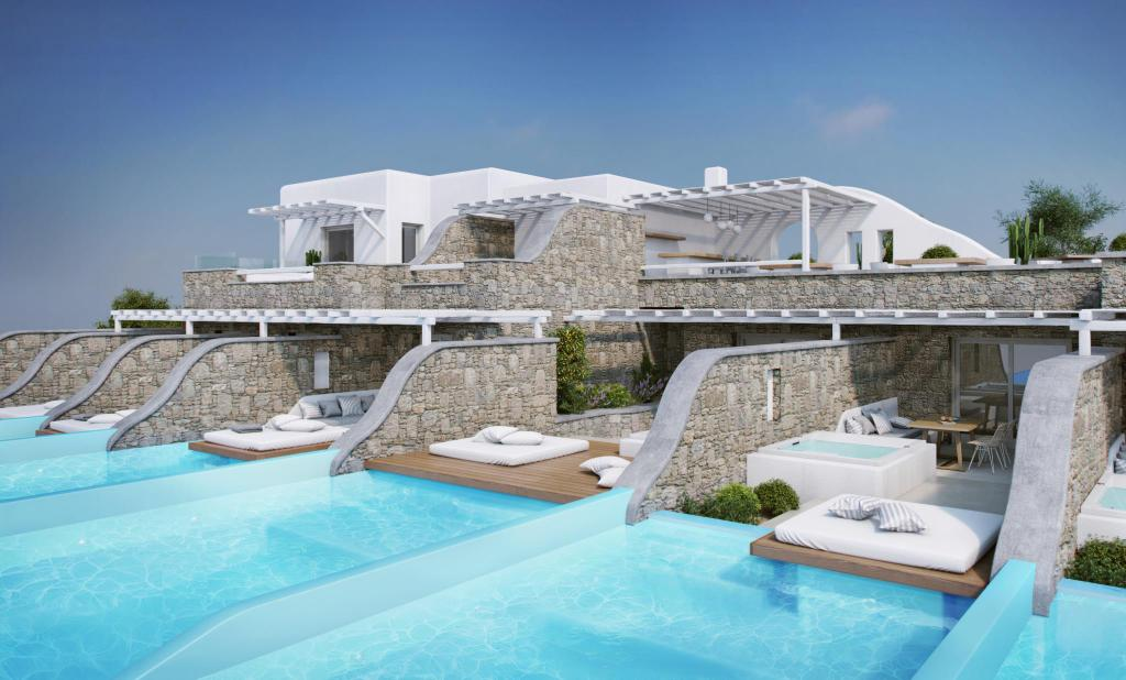 Adel private suites in mykonos room deals photos reviews for Hotel with private swimming pool