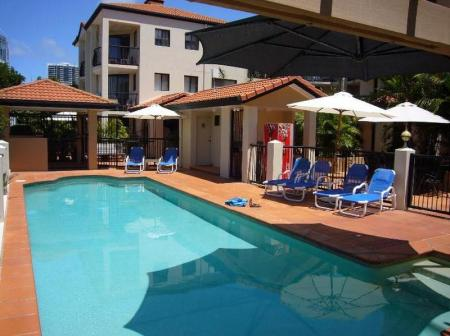 Swimming pool Chevron Palms Holiday Apartments