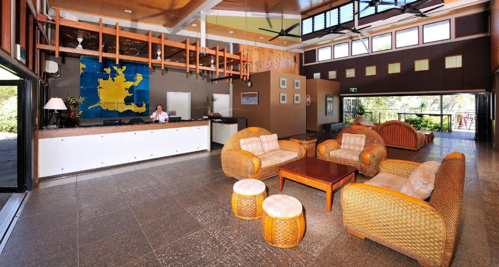 Lobby Groote Eylandt Lodge, managed by Metro Hotels