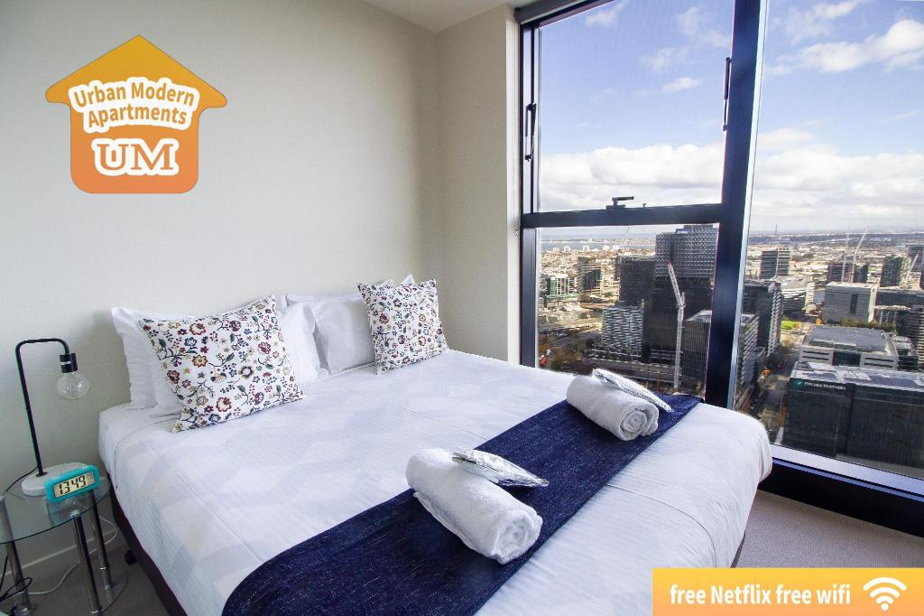1-Bedroom Apartment - Bedroom Urban Modern Serviced Apartments