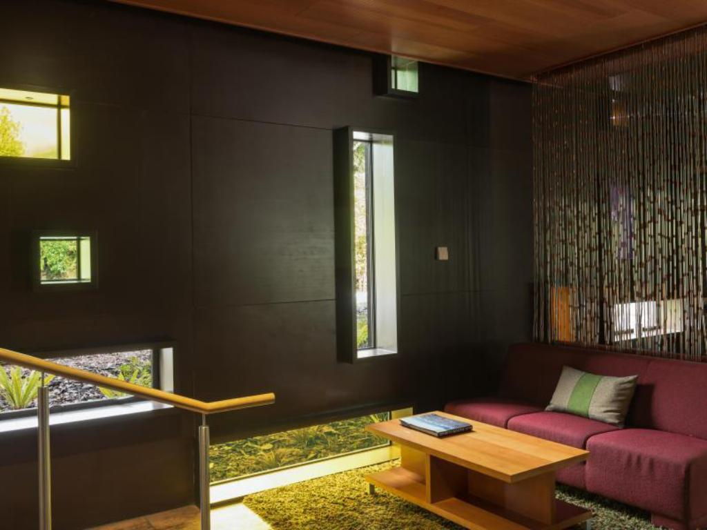 Interior view Te Waonui Forest Retreat