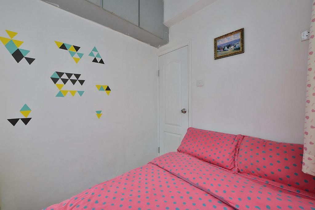 Giường WM 2 Bedrooms Apartment 4 Near Mong Kok Station