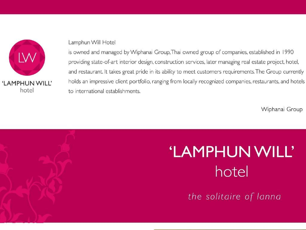 Reception Lamphun Will Hotel
