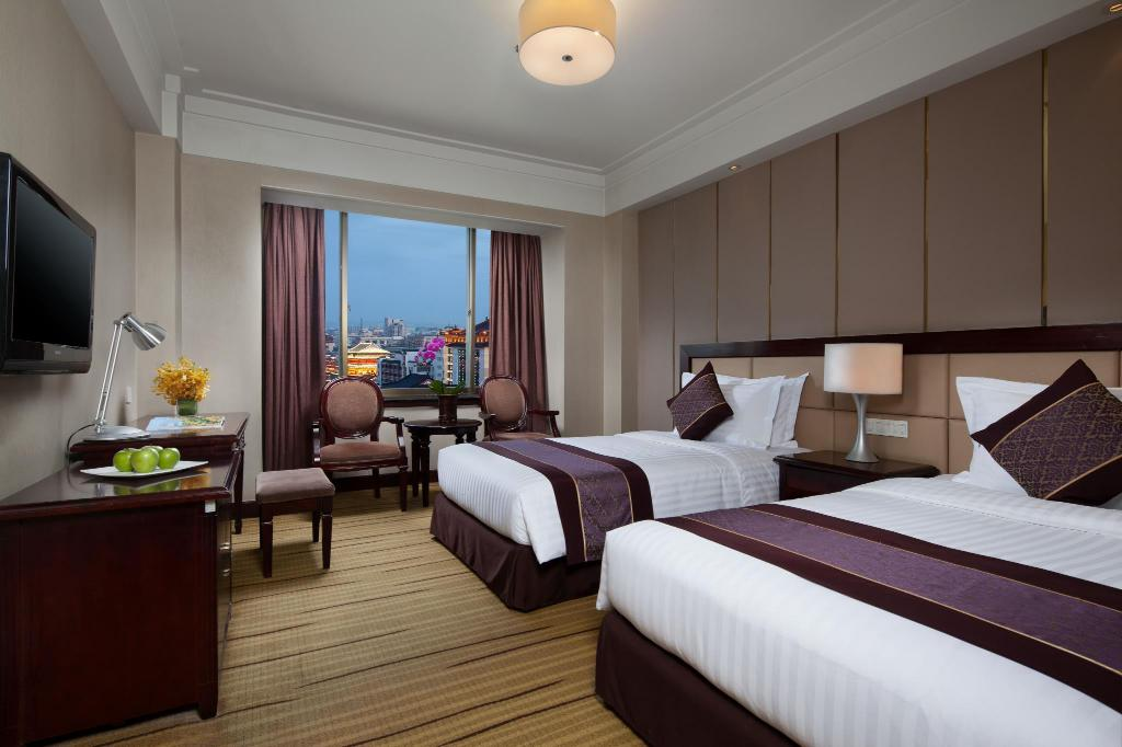 Quarto Superior com cama Twin Jinjiang West Capital International Hotel