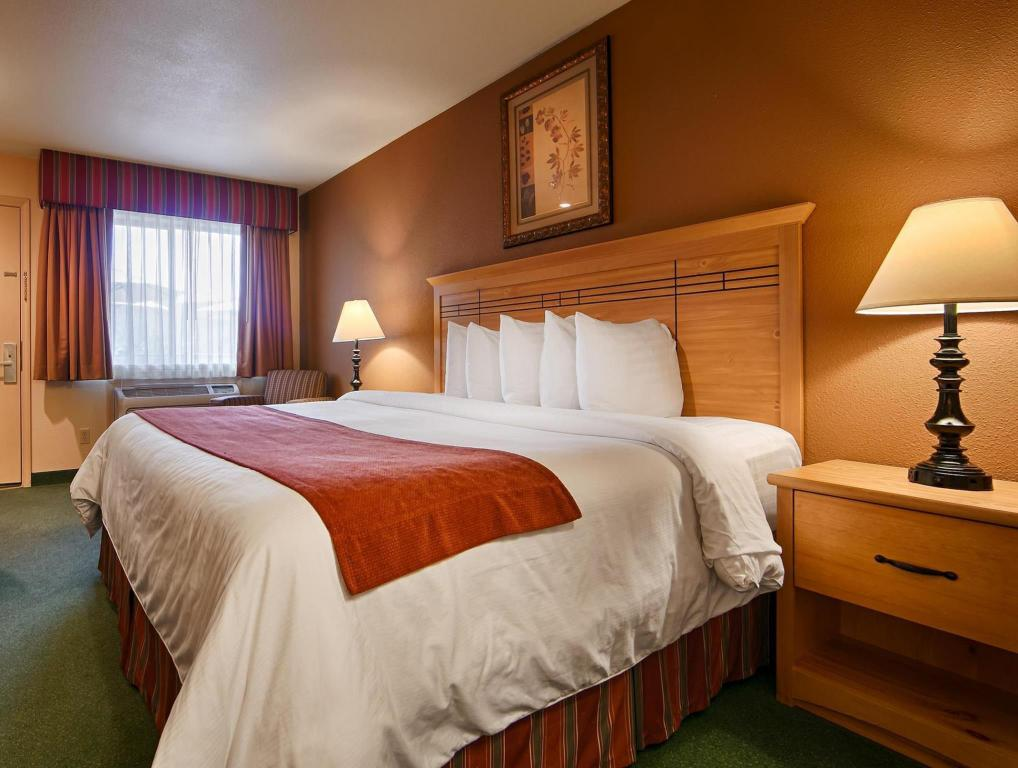 Pet Friendly Room with 1 King Bed - No Smoking - Bed Best Western PLUS Hartford Lodge