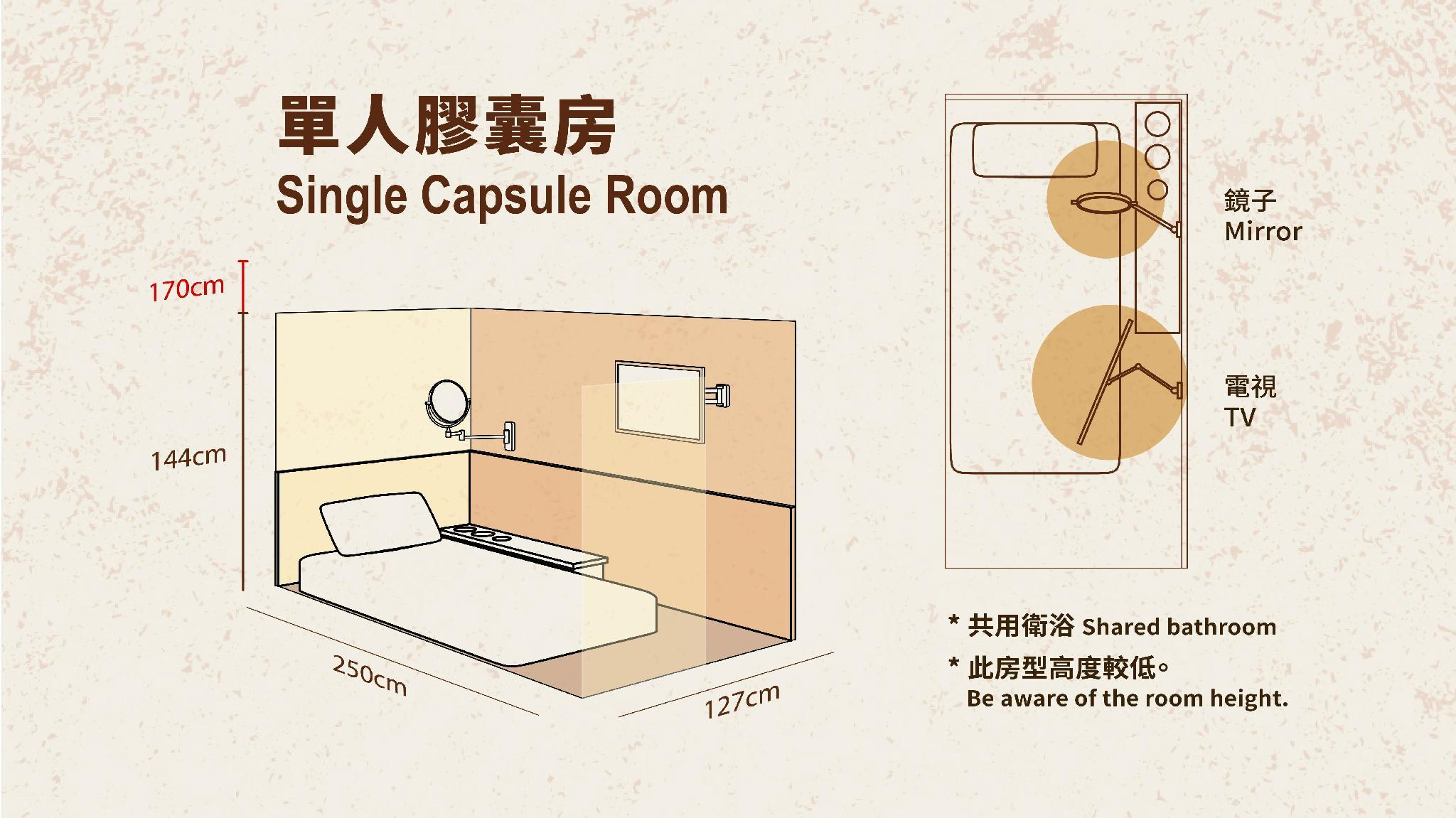 女子宿舍內的單人床位 (Single Bed in Female Dormitory )