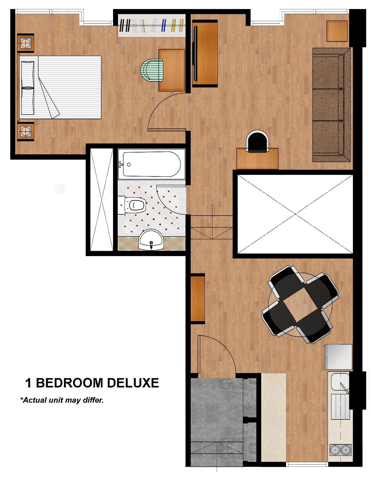 1 Bedroom Deluxe Apartment