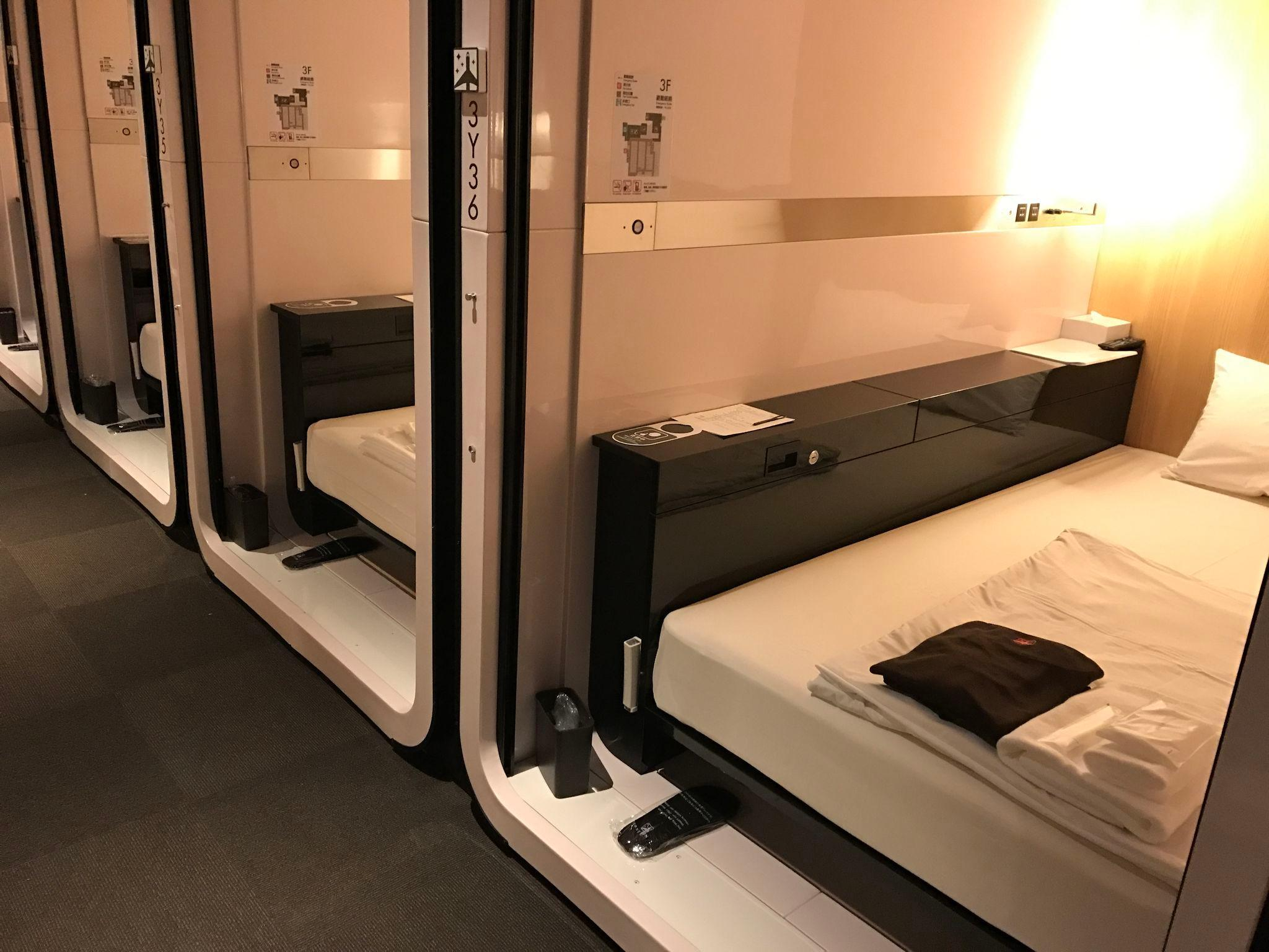 Cabine Estilo Cápsula Executiva - Homens (Business Class Cabin (Male))