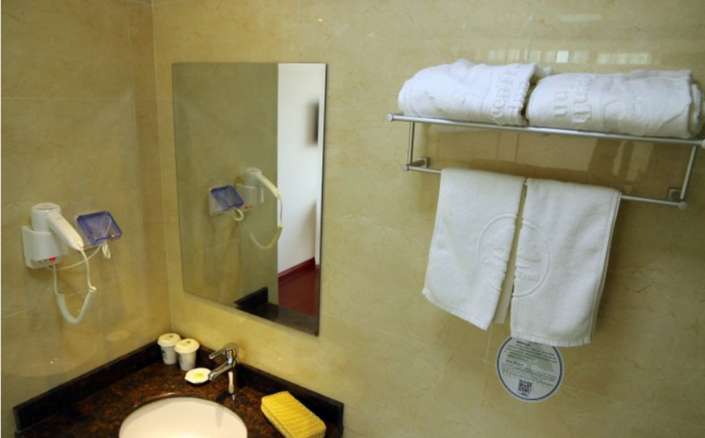 Badkamer GreenTree Inn ZhenJiang West ZhongShan Road Railway Station North Square Express Hotel