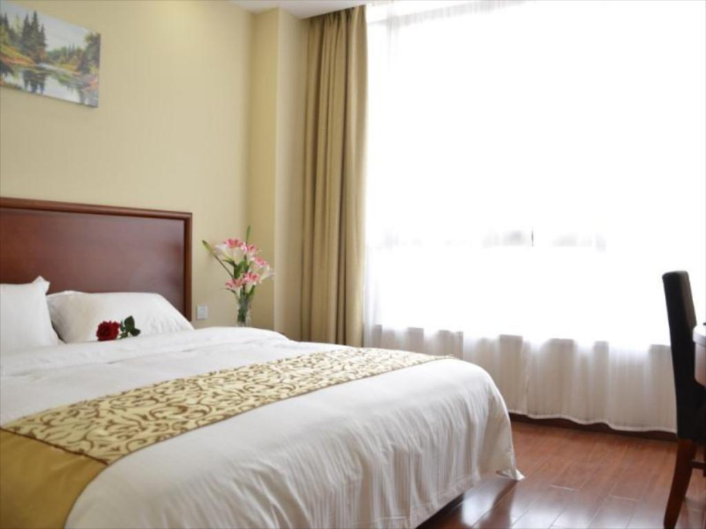 Business B - Bed GreenTree Inn Jining Jinxiang Jinmanke Avenue Express Hotel