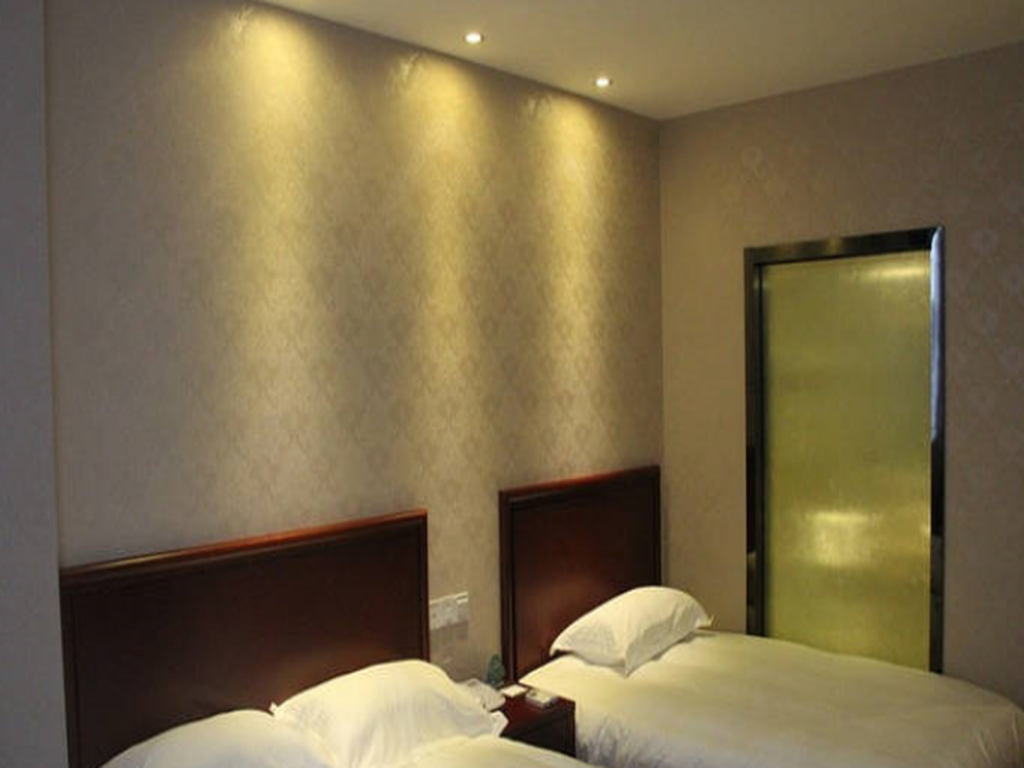 Familiekamer - Bed GreenTree Inn Yangzhou Gaoyou Chengnan New District Hongtaiyang Logistic Park Business Hotel