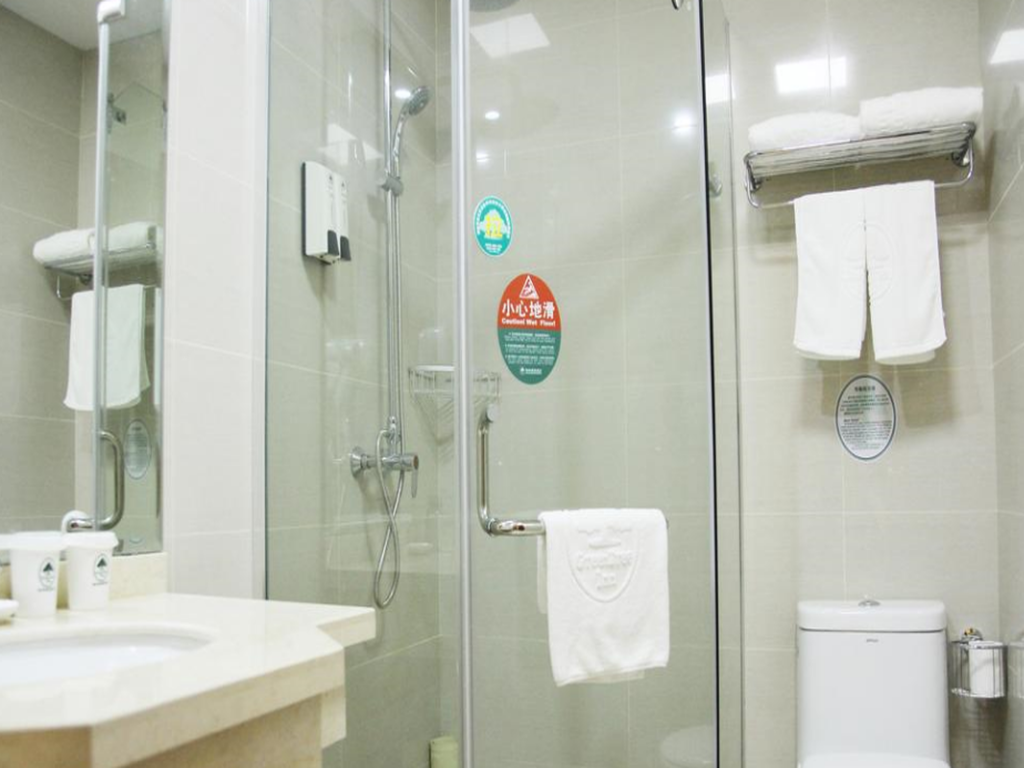 Bathroom GreenTree Inn Yancheng Vehicle Administrative office Test Center Express Hotel