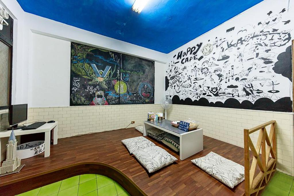 Interieur Kaohsiung Siziwan - Happy cape 2 Bed in 10-Bed Dormitory with Shared Bathroom (Mixed)