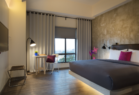 Dago Deluxe, Guest room, 1 Queen, City view Moxy Bandung