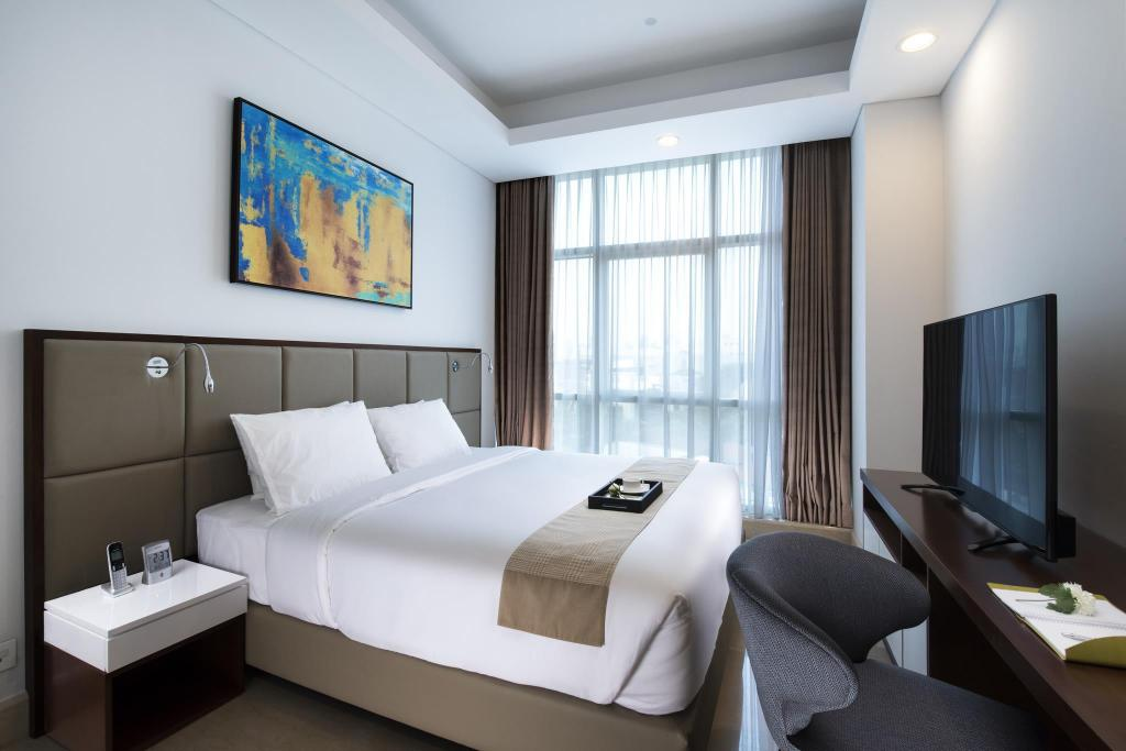 2-Bedroom Apartment - Bed Oakwood Suites La Maison Jakarta