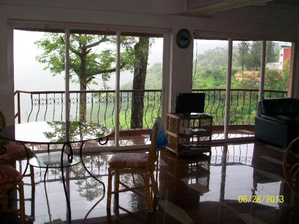 View from inside Panchgani Villa