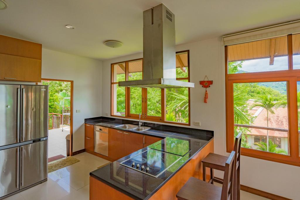 Kitchen Ocean View Villa In Baan Makham