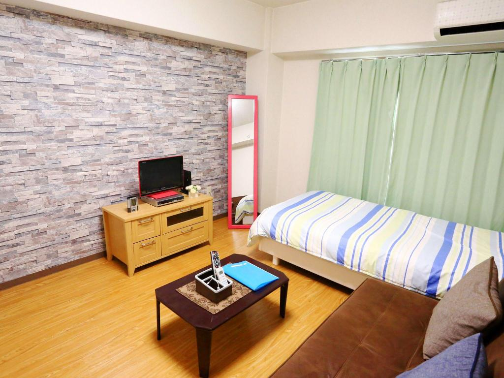 Interior view AE Bedroom Apartment 3 in Kyoto