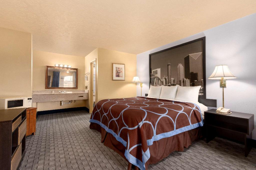 1 King Bed Non-Smoking - Guestroom Super 8 By Wyndham Atlanta/Hartsfield Jackson Airport