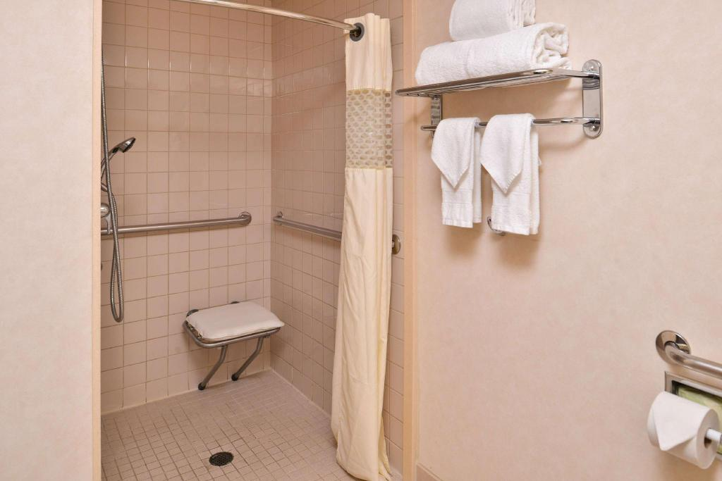 1 King Mobility Hearing Accessible Roll In Shower Non-Smoking - Guestroom Hampton Inn San Francisco Daly City