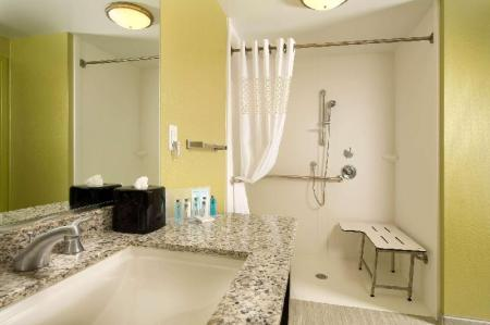2 Queen Accessible Roll In Shower Non-Smoking - Guestroom Hampton Inn & Suites Buffalo Airport