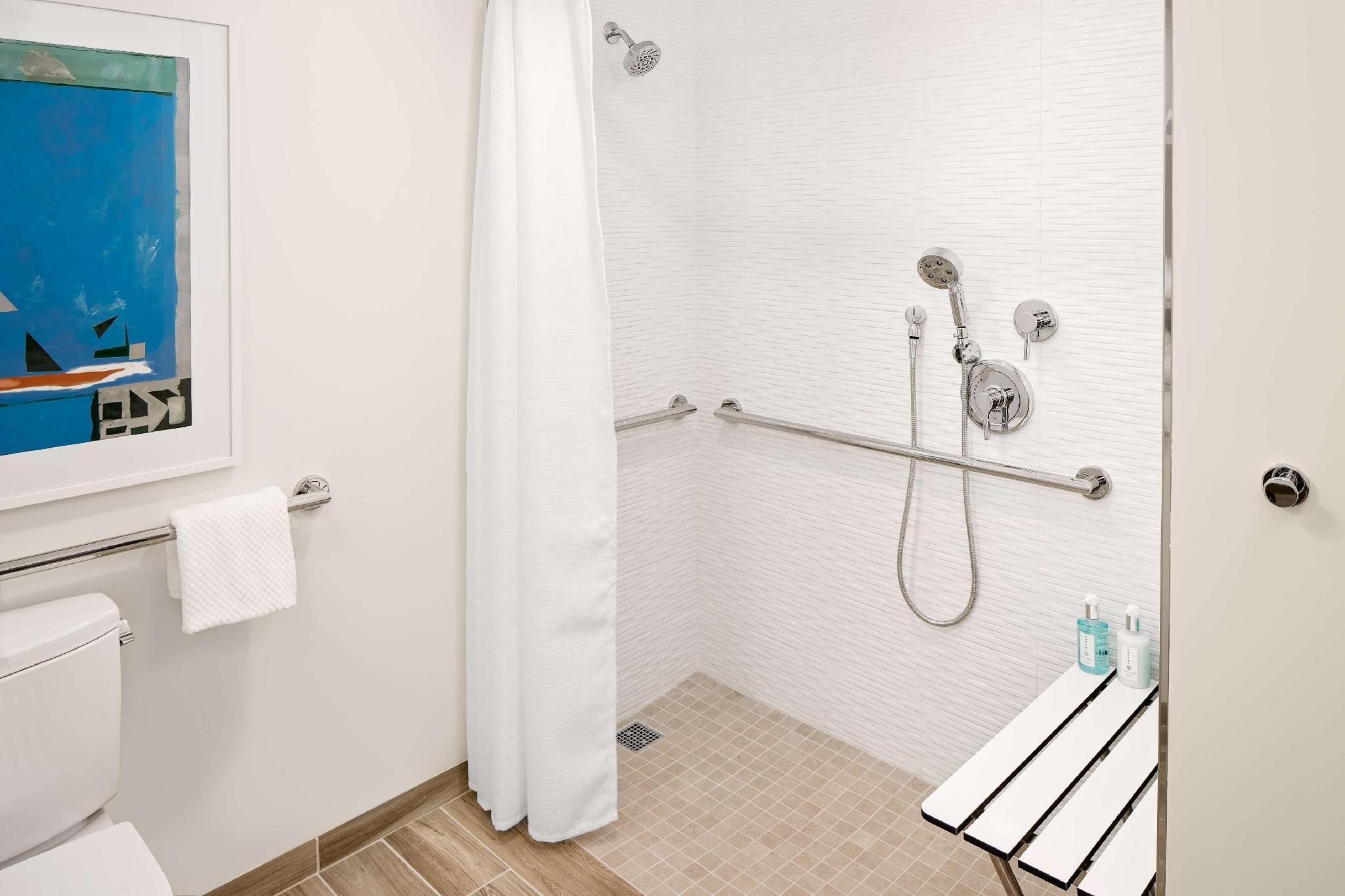 1 King Suite Accessible Roll In Shower Non-Smoking