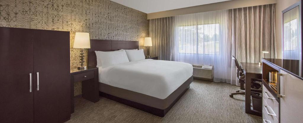 1 King Patio Accessible Tub Non-Smoking - Guestroom DoubleTree by Hilton Hotel Chicago Wood Dale-Elk Grove