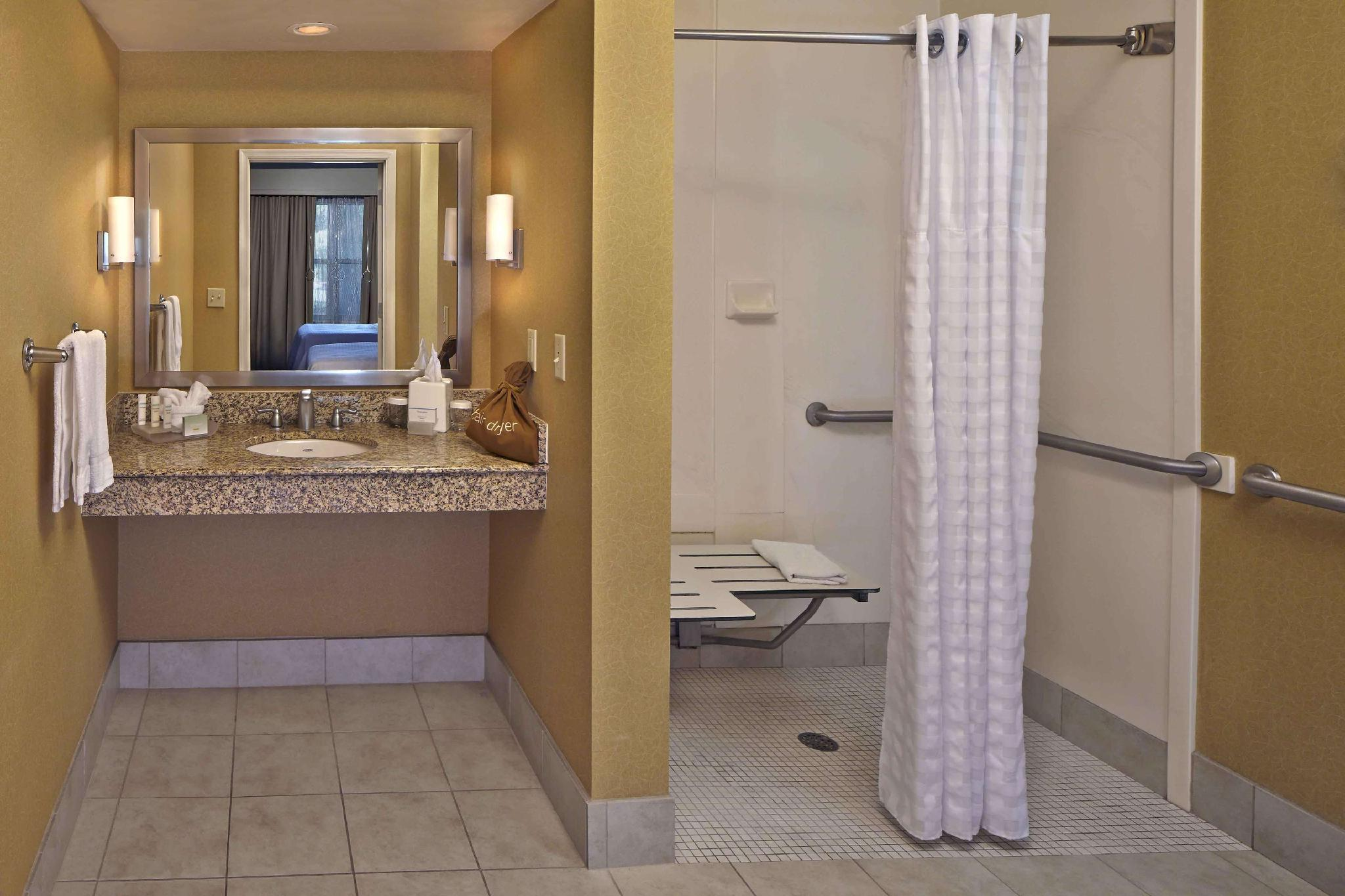 2 Double Mobility Hearing Accessible Roll In Shower Suite Non-Smoking