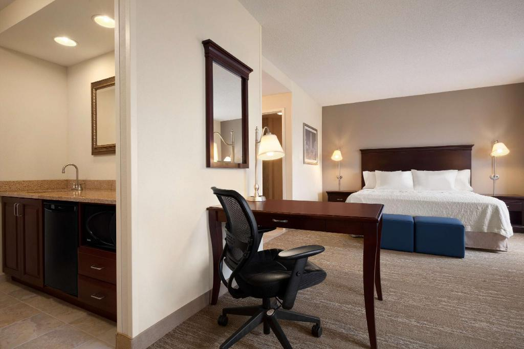 1 King Studio Suite Non-Smoking - Guestroom Hampton Inn And Suites Washington Dulles International Airport