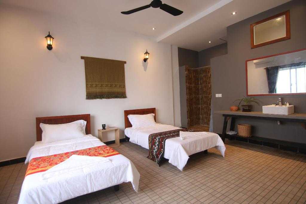 Twin (two single sized beds) - Guestroom Chan Angkor Boutique