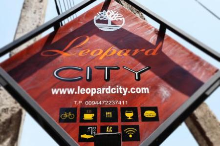 Eingang Leopard City Hostel