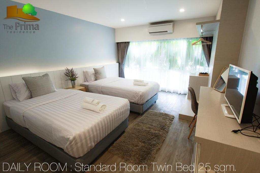 Standard 2 Single Beds - Guestroom The Prima Residence