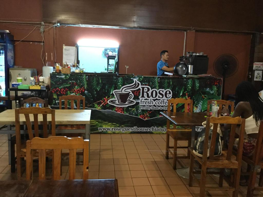 Coffee shop Rose Guest House Chiang Mai