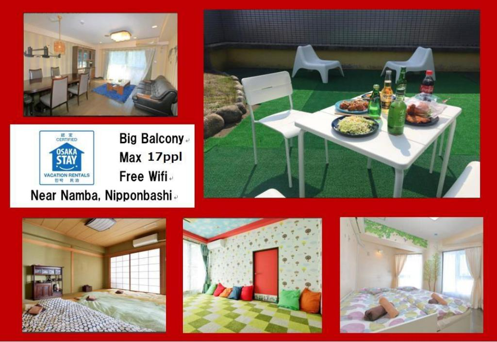 Big Balcony 6 rooms in Namba area Tennoji TA10