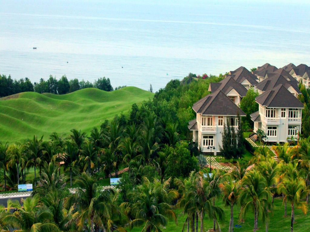 Aerial view Villa Panda 1 in 5* Resort Phan Thiet