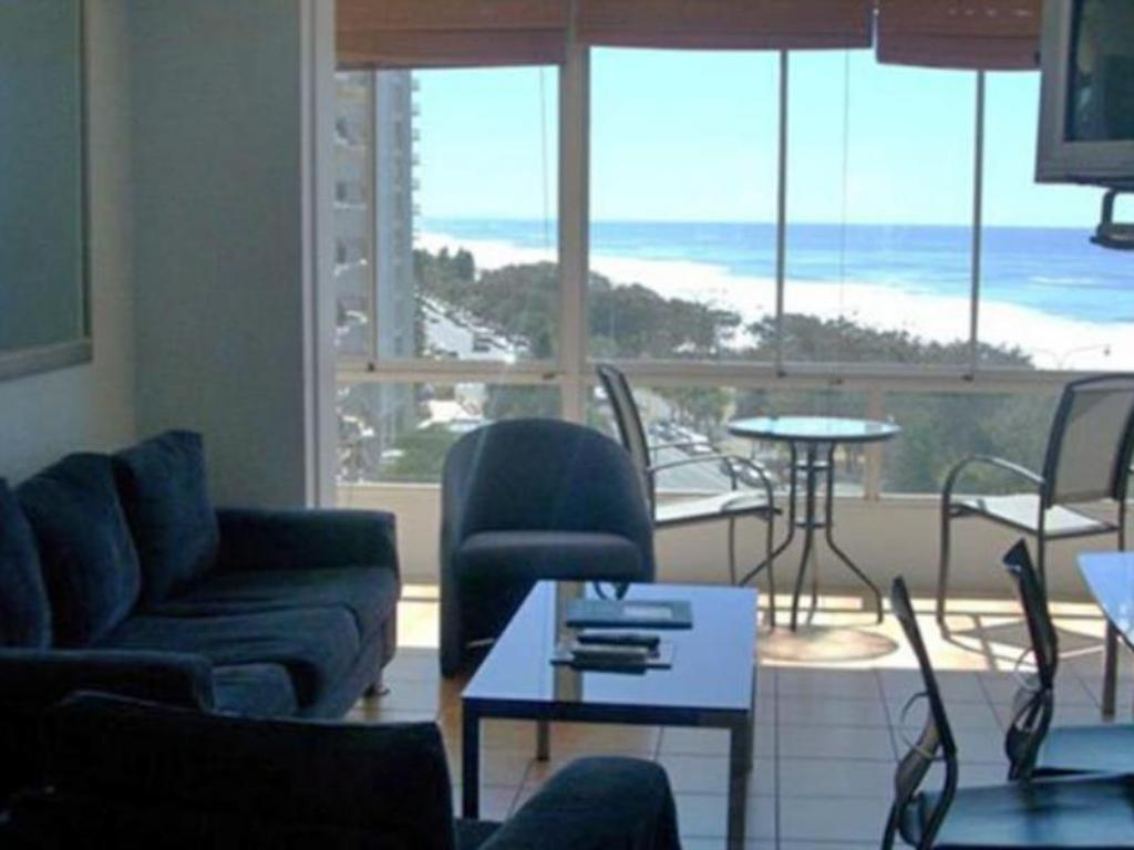 Beachfront Apartment - View from inside Suntower Holiday Apartments