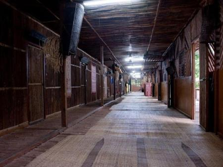 Interior view Gua Longhouse Chalet