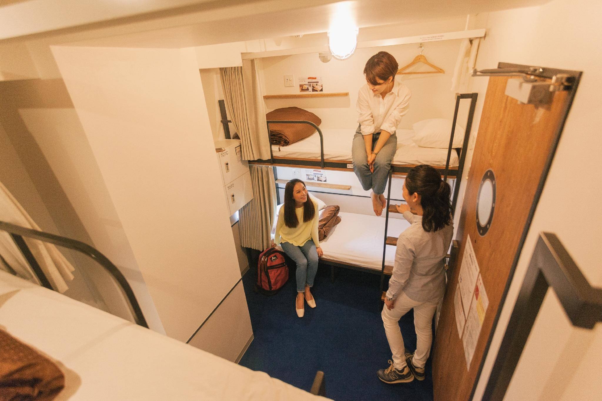 Privat rom for 3 personer med 2 køyesenger (Private Room for 3 People with 2 Bunk Beds)