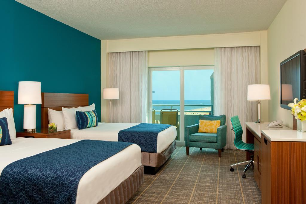 Luxury Room with Two Queen Beds - Limited View - Guestroom Ocean Place Resort & Spa